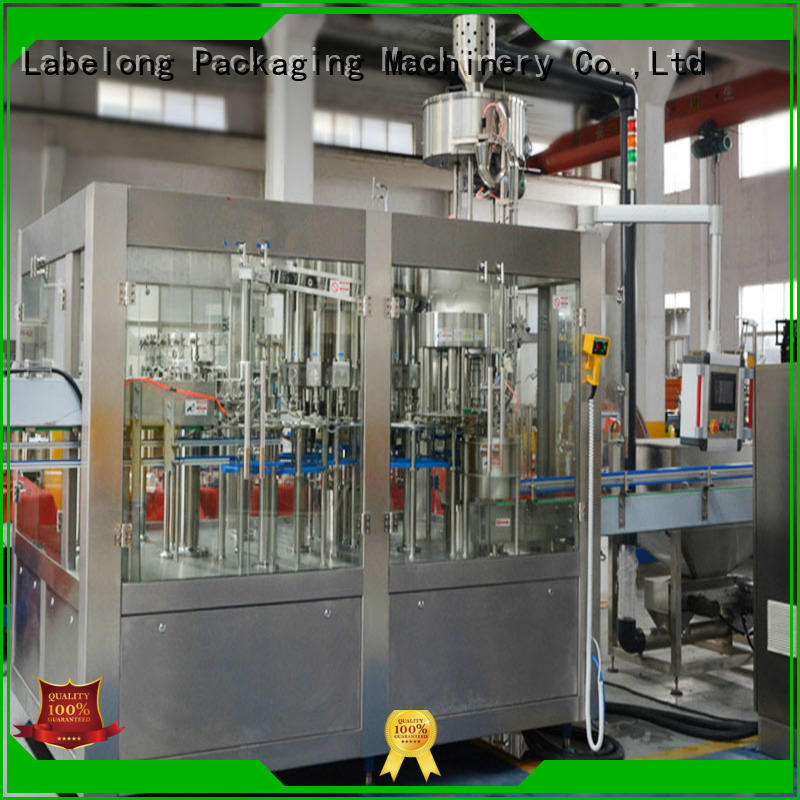 Labelong Packaging Machinery glass bottle filling machine compact structed for flavor water