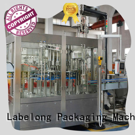 cooking oil bottlling machine compact structed for flavor water Labelong Packaging Machinery