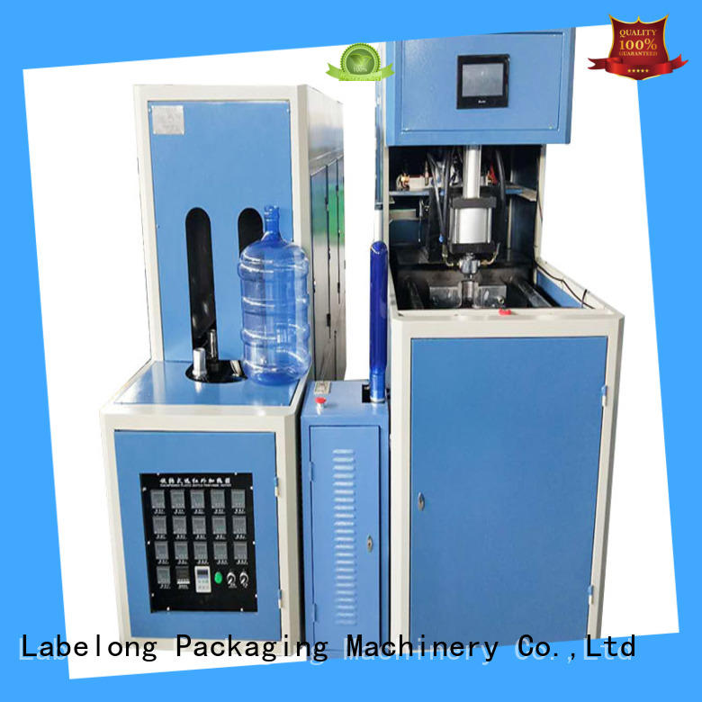 Labelong Packaging Machinery dual boots semi-automatic bottle molding machine energy saving for pet water bottle