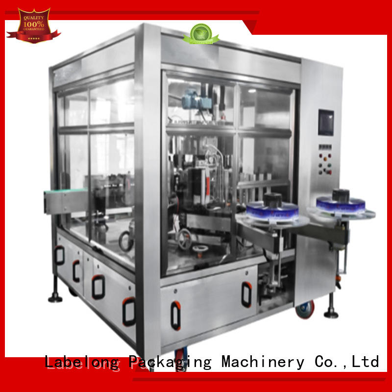Labelong Packaging Machinery hot-melt glue labeling machine with touch screen for beverage