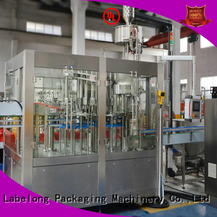 Labelong Packaging Machinery water filling machine compact structed for mineral water, for sparkling water, for alcoholic drinks
