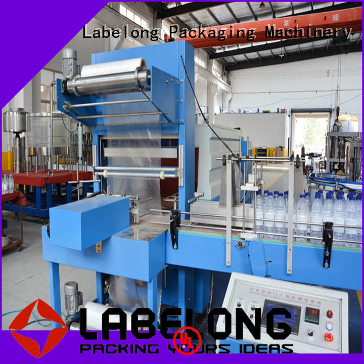 automatic shrink wrap machine with touch screen for small packages Labelong Packaging Machinery