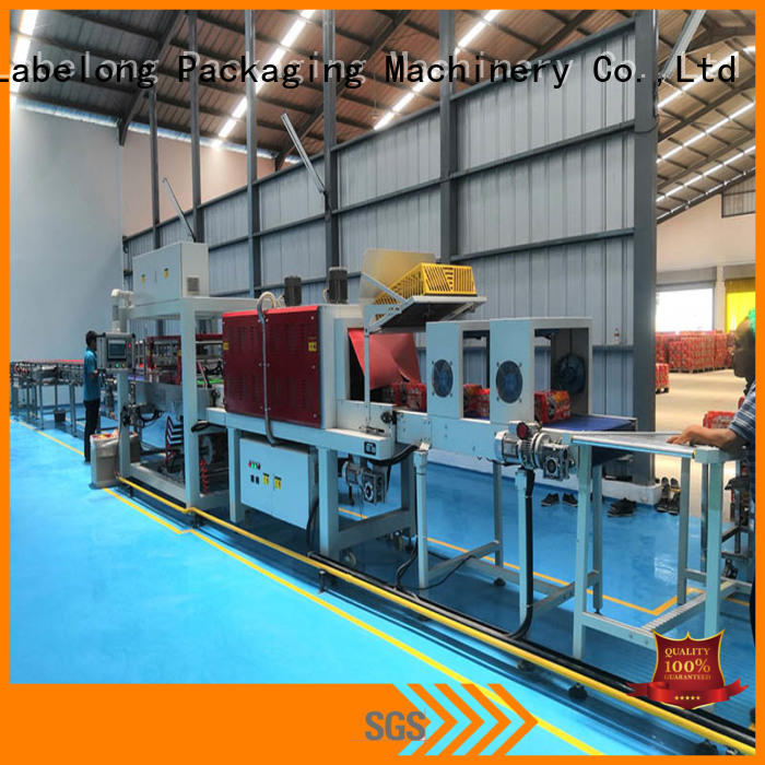 automatic shrink wrap machine with touch screen for cans Labelong Packaging Machinery