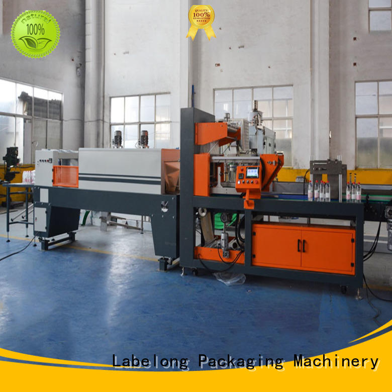 Labelong Packaging Machinery automatic shrink wrappin machine with touch screen for plastic bottles for glass bottles
