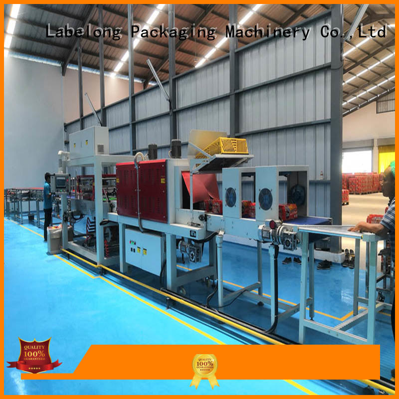 Labelong Packaging Machinery linear automatic shrink wrapper with touch screen for plastic bottles for glass bottles