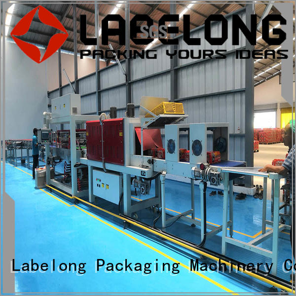 l-type automatic shrink wrap machine plc control system for jars